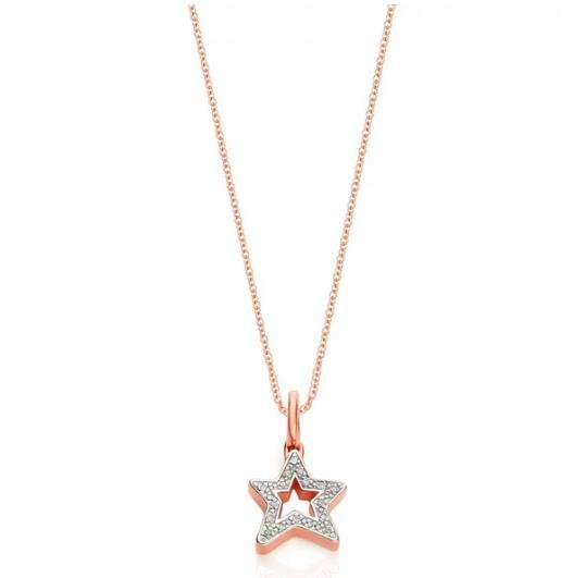Alphabet 星形钻石项链