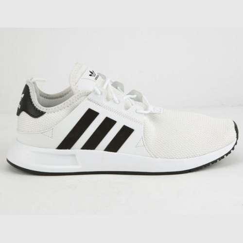 阿迪达斯 黑白拼色运动鞋