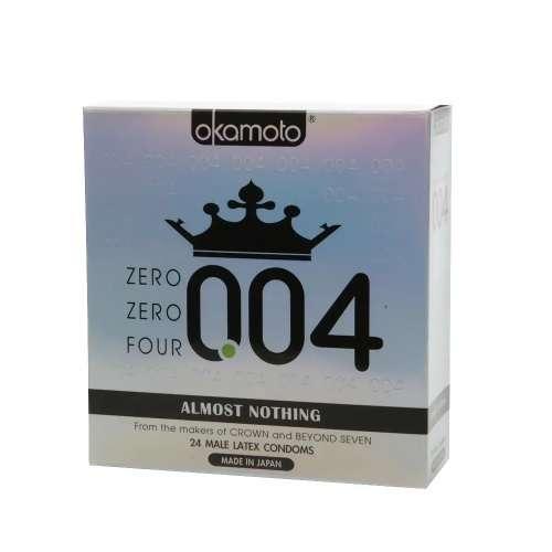 Okamoto 004 乳胶避孕套 24个