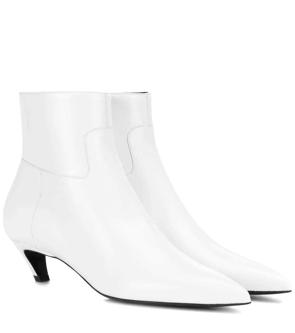 BALENCIAGA Slash Heel皮革及踝靴