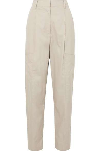 TIBI Finn 纯棉斜纹布锥形裤