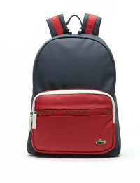 MEN'S L.12.12 CONCEPT COLORBLOCK PETIT PIQUÉ BACKPACK