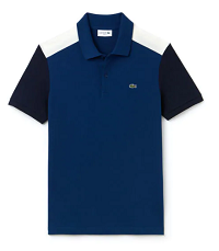 MEN'S SLIM FIT COLORBLOCK STRETCH PIMA COTTON PIQUÉ POLO