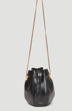 SAINT LAURENT Talitha Bucket Bag in Black