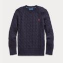 需凑单!Ralph Lauren 拉夫劳伦 Cable-Knit Cotton Sweater 8-20岁毛衣