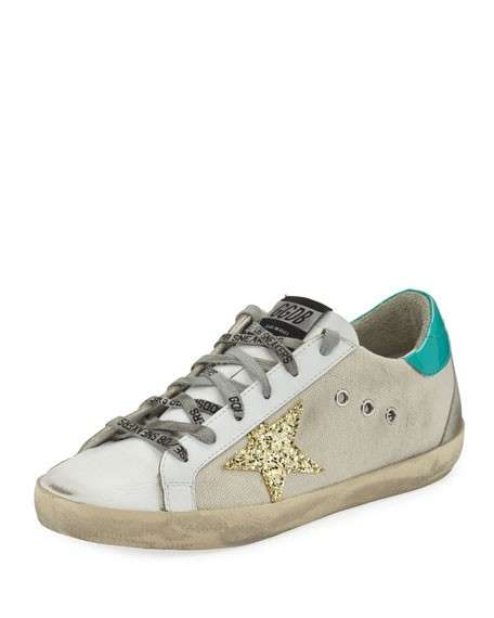 Golden Goose Superstar Mixed Low-Top Sneakers