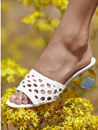 Loeffler Randall Brette Accent-Heel Woven Leather Sandals