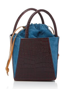 Trademark Crocodile-Embossed Dorthea Box Bag