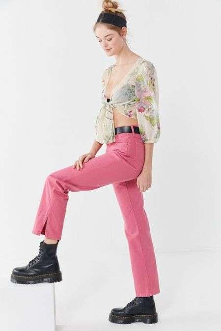 Split-Ankle 直筒牛仔裤