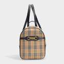 burberry THE LINK BACKPACK IN VINTAGE CHECK COTTON AND BLACK LEATHER