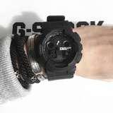 降价!暗黑风!Casio 卡西欧 G-Shock 系列 全黑经典男士运动腕表 GA100-1A1CR