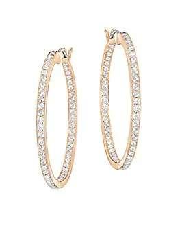 18K玫瑰金水晶耳环