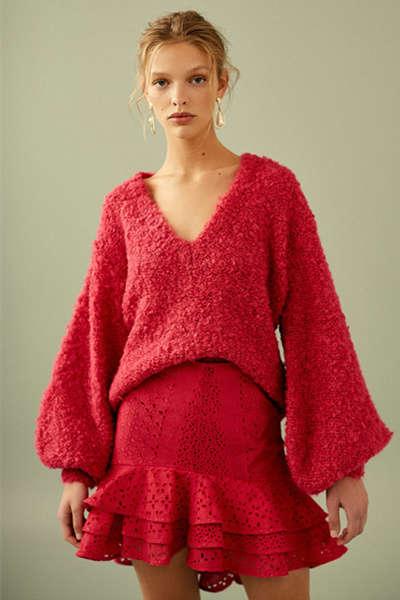 C/MEO V领毛衣