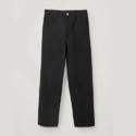COS 高腰黑色西装休闲裤