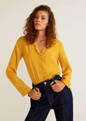 芒果黄衬衫