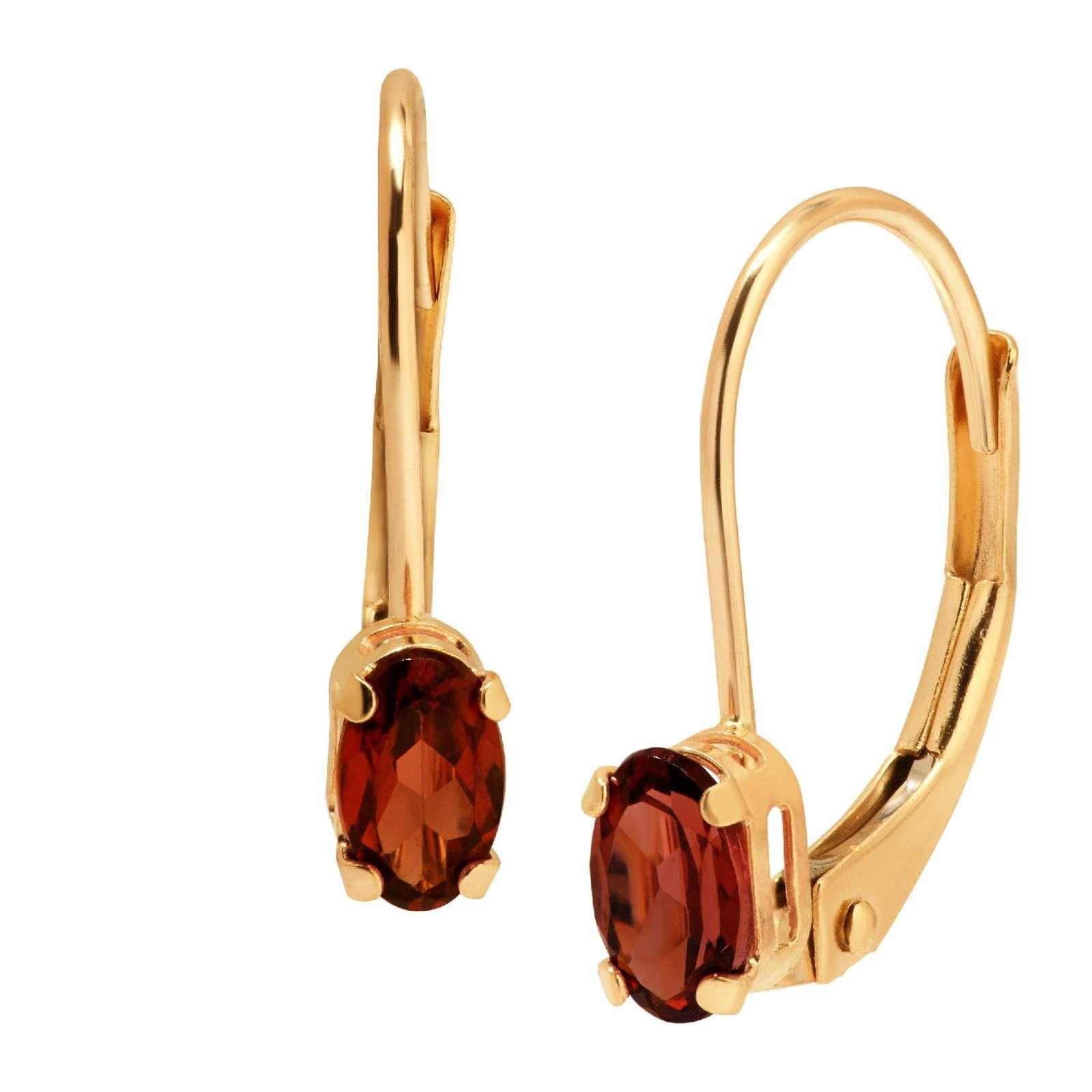 石榴石耳环