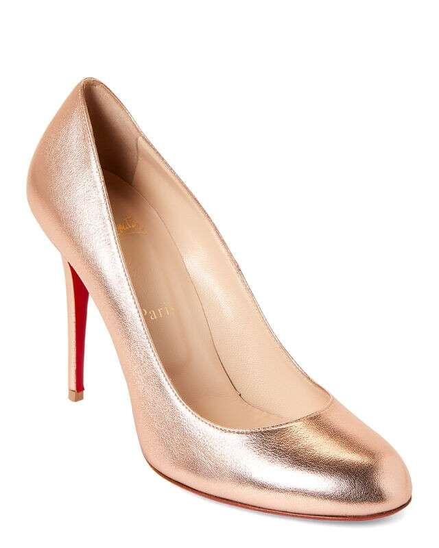 Pink Fifi 金属色高跟鞋