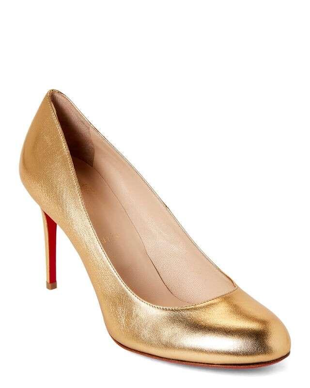 Gold Silk Fifi 金属色高跟鞋