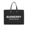 BURBERRY LOGO 黑色托特包