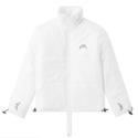 A-COLD-WALL* 白色短款 Logo 棉服