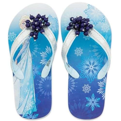 Elsa 艾莎蓝色雪花儿童拖鞋