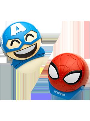 美国队长+蜘蛛侠唇膏套组