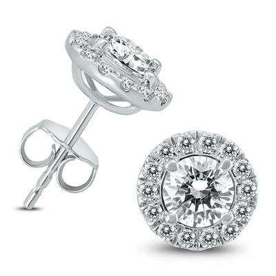 2 CARAT 钻石白金耳钉