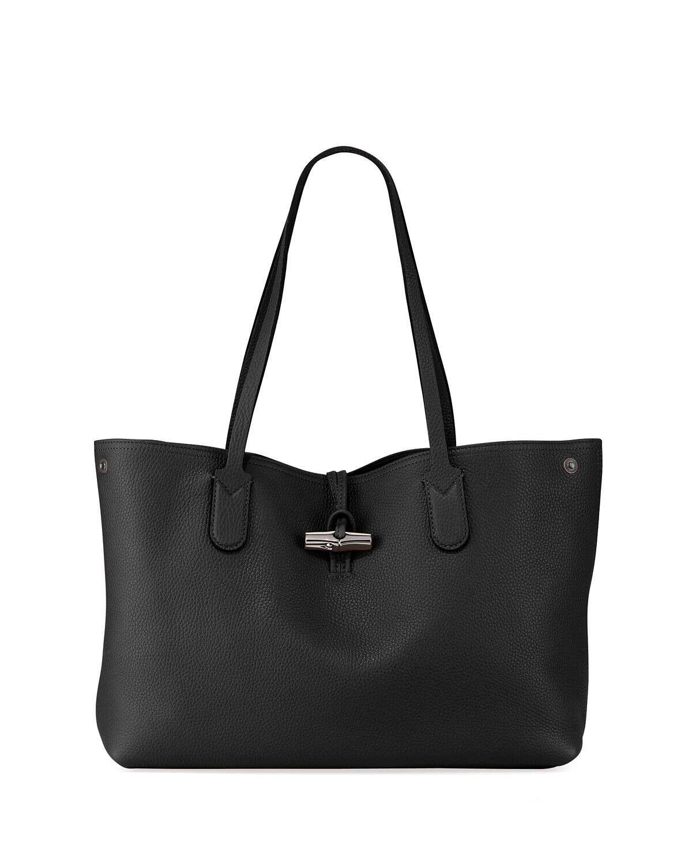 Longchamp Roseau Essential Medium Leather Shoulder Tote Bag