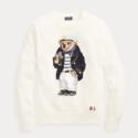 POLO RALPH LAUREN Polo Bear Cotton Sweater 女士泰迪熊图案针织衫