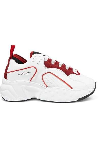 ACNE STUDIOS Manhattan 皮革绒面革网眼运动鞋