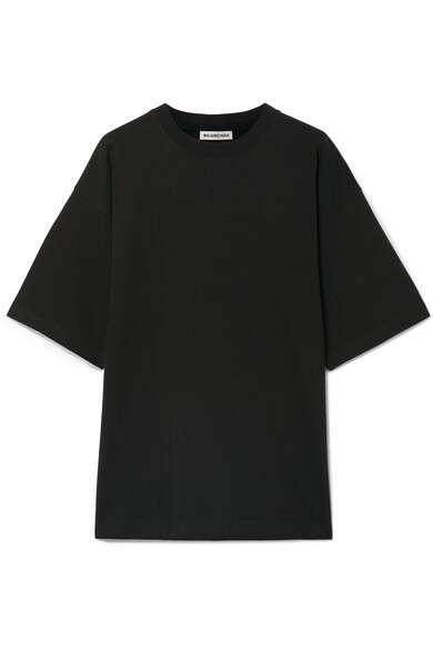 BALENCIAGA 大廓形刺绣纯棉平纹布 T 恤