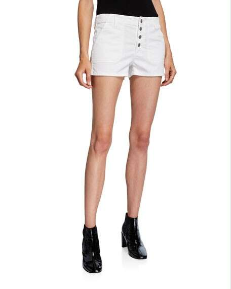 J Brand Nomey Low-Rise Utility Shorts